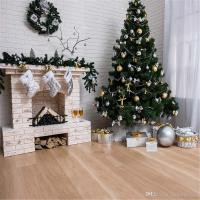 White Brick Wall Fireplace Photography Backdrops Vinyl ...