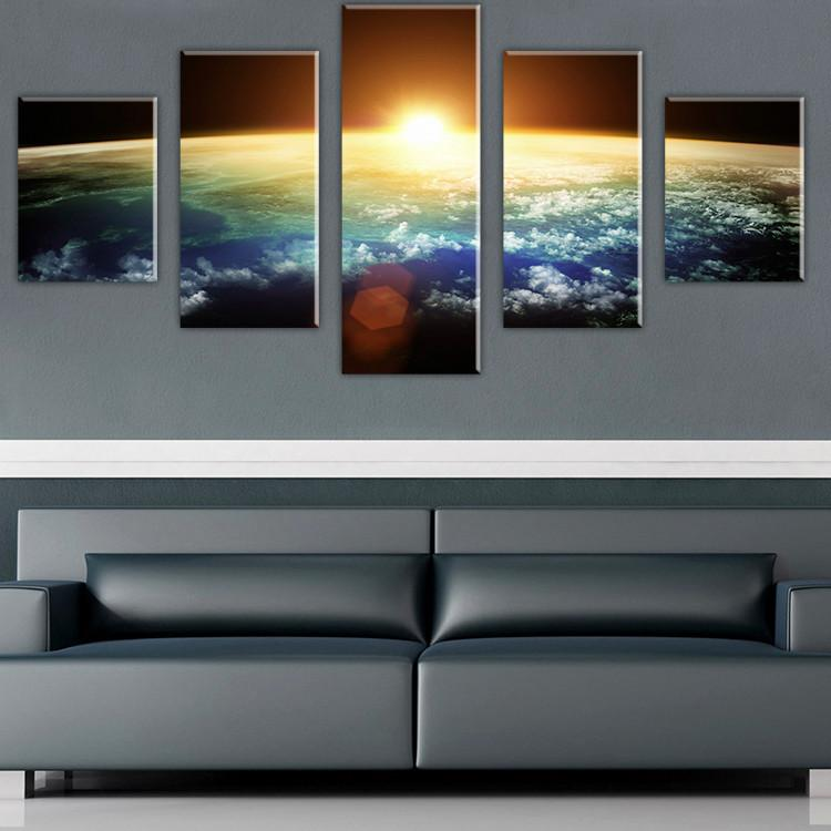 2017 Without Framed Large Hd Space View Scape Canvas Print - framed wall art for living room