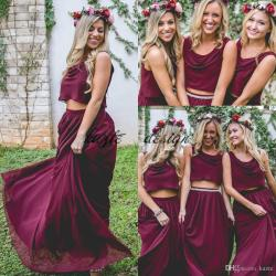Small Crop Of Wine Bridesmaid Dresses