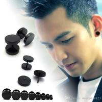 Best Quality Mens Earrings Korean Punk Hip Hop Rock Round ...