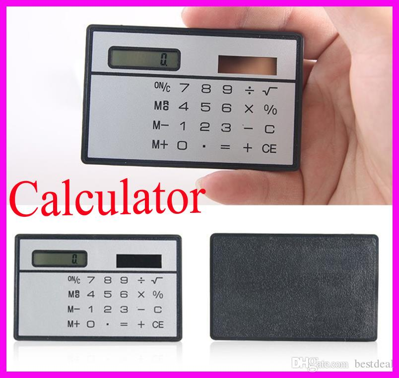 2019 Solar Card Calculator Mini Calculator Solar Powered Counter