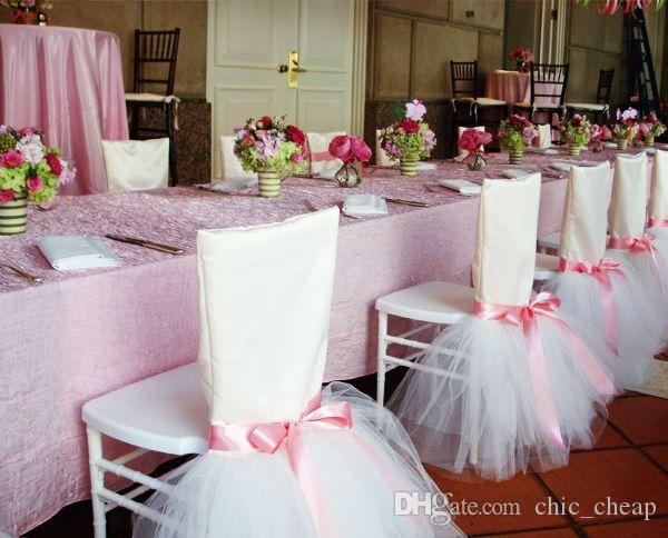2018 Stain Tulle Tutu Beautiful Chair Cover Classic Chair