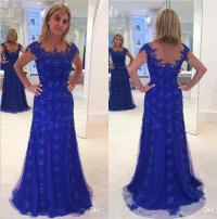 Royal Blue Lace Mother Of The Bride Dresses Plus Size ...