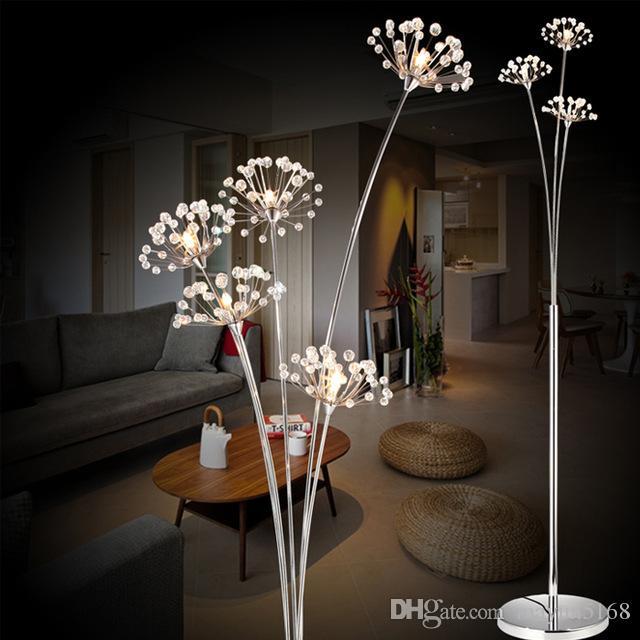 2017 Modern Creative Floor Lamp Bedroom Bedside Crystal Floor Lamp - living room light stand