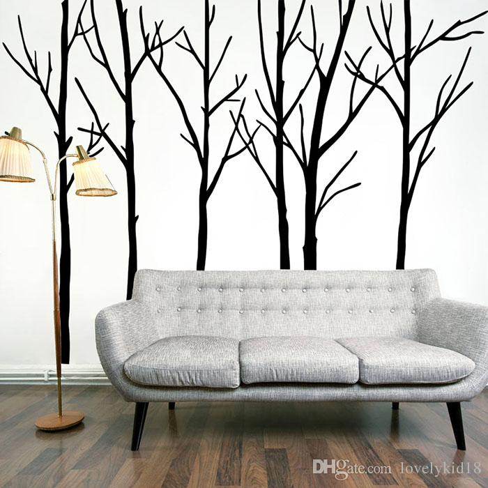 Large Big Tree Wall Stickers Black Tree Wall Decals Wallpaper - large wall decals for living room