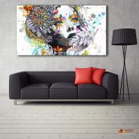 2018 Large Canvas Painting Modern Wall Art Girl With ...