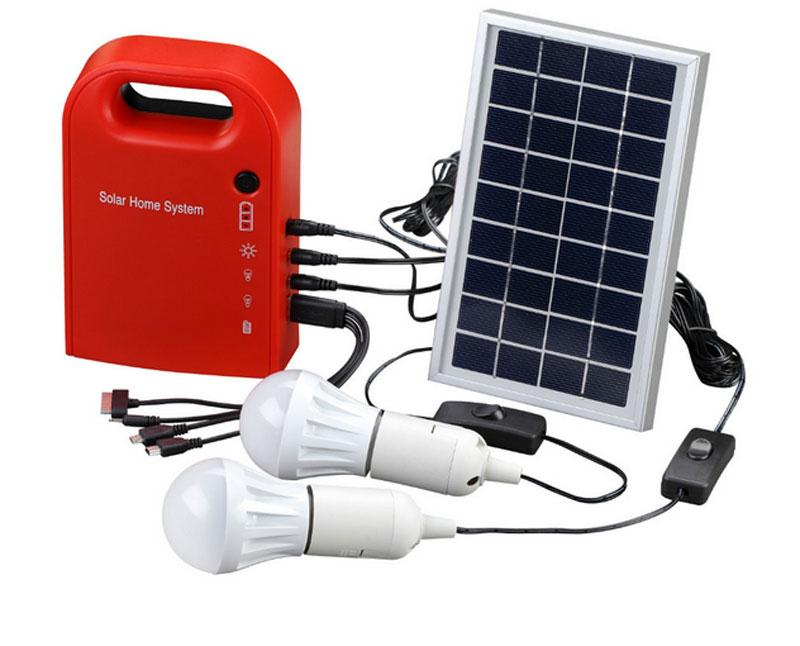 Portable Solar Power Home System Energy Kit Include 4 In 1