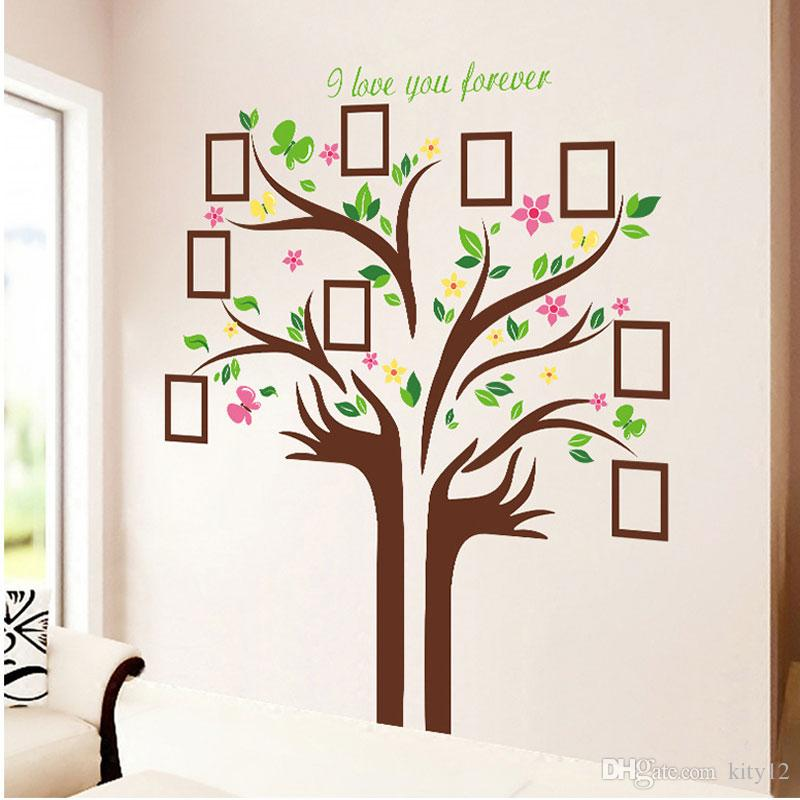 Large Size Family Photo Frames Love Tree Wall Stickers Diy Home - large wall decals for living room