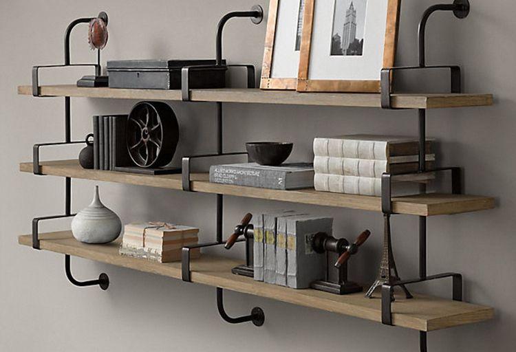 2018 Wood Wall Shelving Closet Wrought Iron Shelves Word