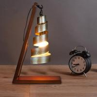 2018 Nordic Vintage Industrial Table Lamps Wood Iron Retro ...