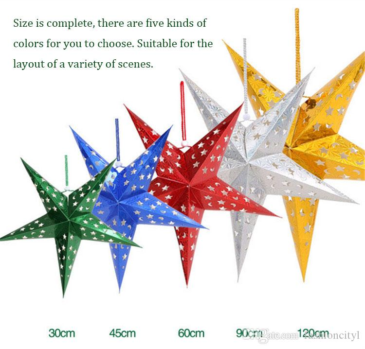 Christmas Paper Star Decorations Mall Ceiling Decoration Radiant - christmas star decorations
