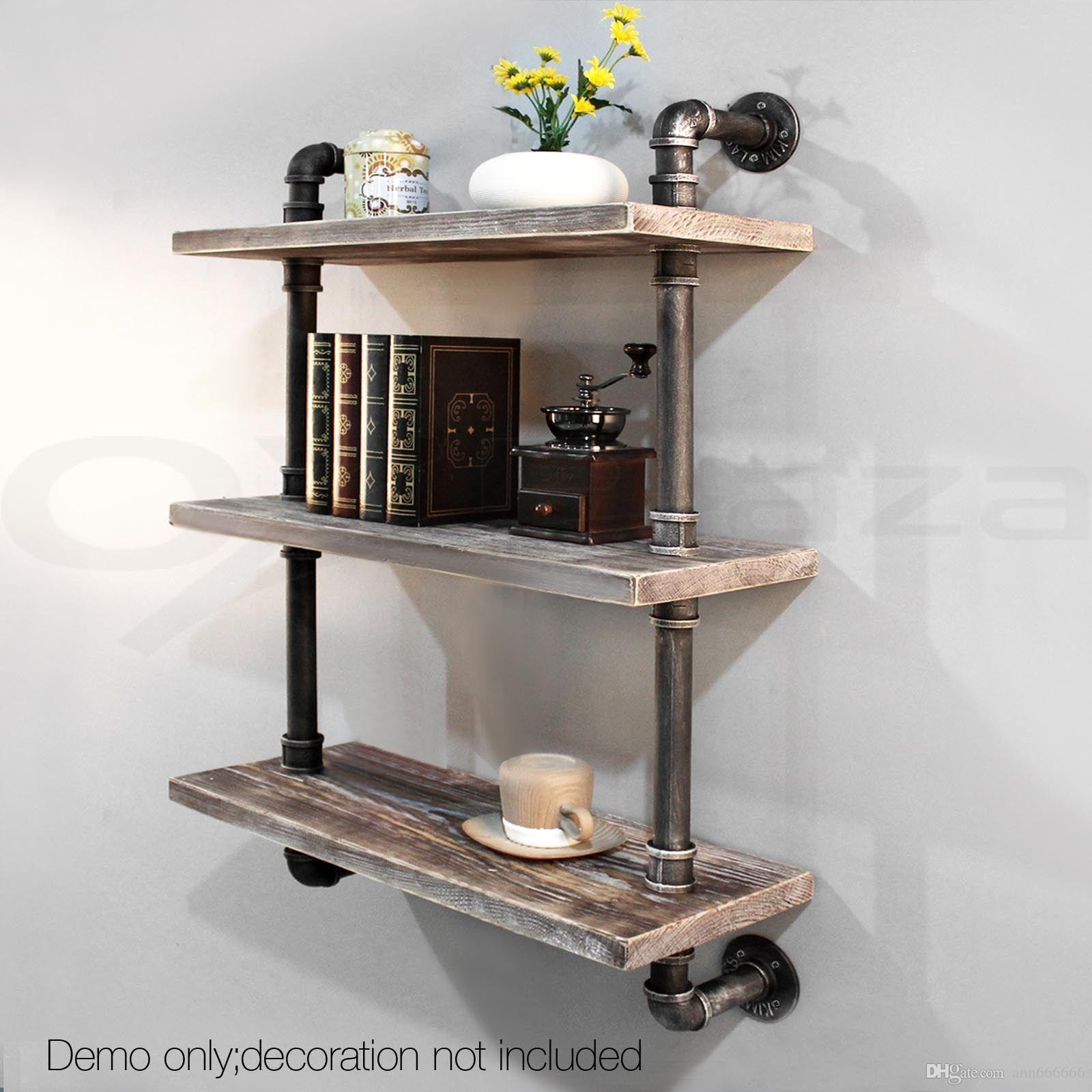 Old Bathroom Storage Bookcase Diy Industrial Retro Wall Mount Pipe Bookcaseindustrial Vintage Iron Pipe Three Tier Metal Tall Bookcase Three Tier Wall Shelves 3 Tier Bathroom Wall Shelf interior Three Tier Wall Shelf