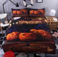 3d Print Bedlclothes Mischievous Halloween Pumpkin Bedroom