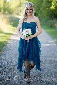 Country Short Bridesmaid Dresses 2016 Cheap Teal Chiffon ...