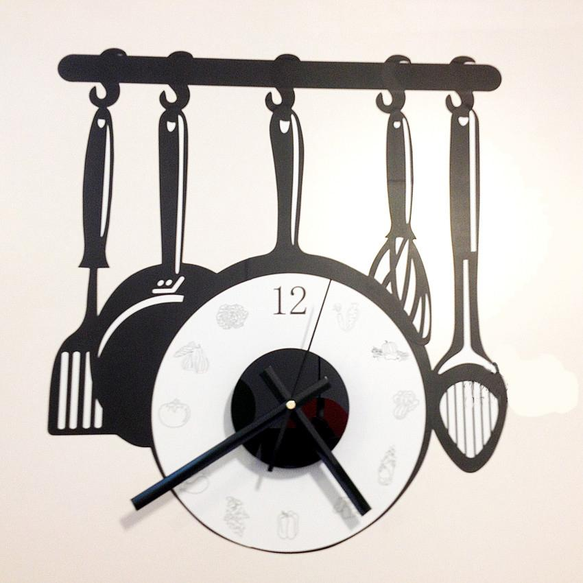 Big Size Flat Wall Clock Wall Sticker Watch Diy Brief Living Room - living room clock