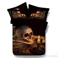 Halloween Black Color 3d Skull Printed Bedding Sets Twin ...