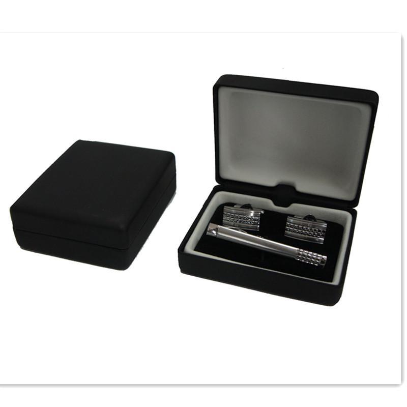 MEN'S GIFT CUFFLINKS & TIE CLIP BOX JEWELRY BOX HIGH