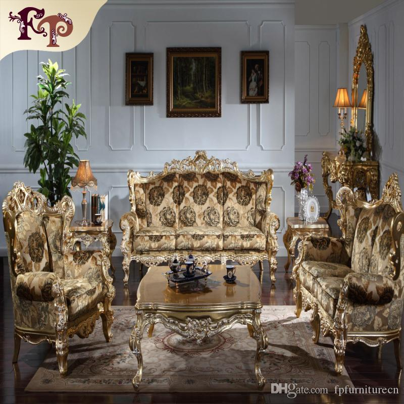 2017 Baroque Living Room Sofa Furniture Antique Classic Sofa Set   Barock  Mobel Versailles Sofa