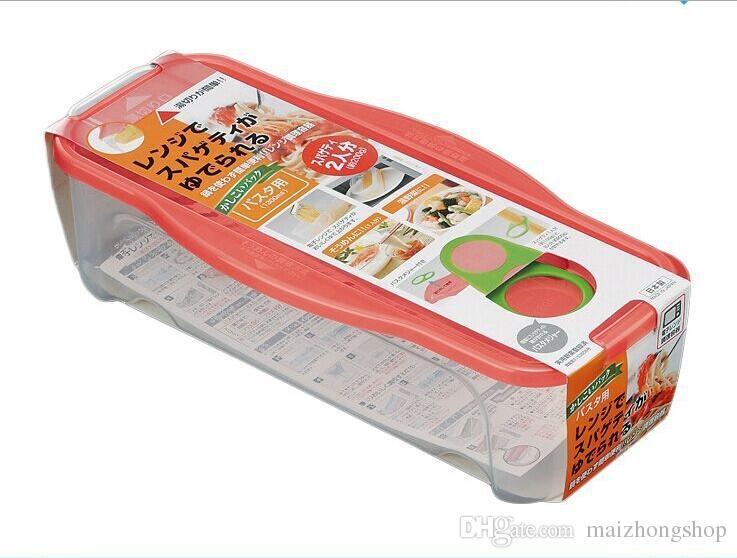 Noodle Pasta Strainer Microwave Pasta Cooker Pasta Maker Spaghetti Storage Container Plastic