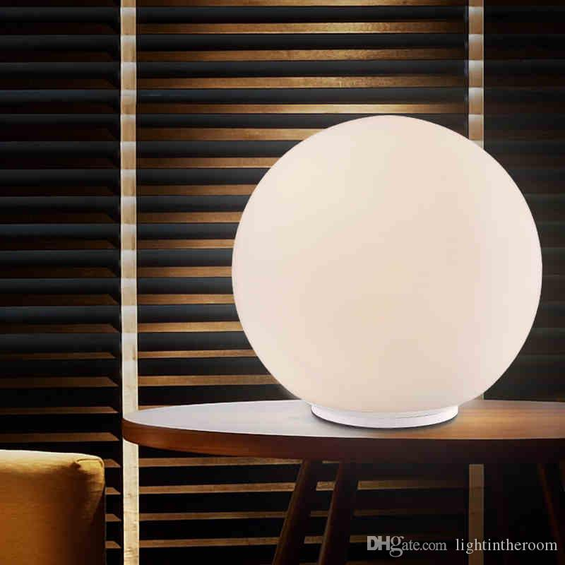 Creative Art Bedside White Glass Table Lamp Dimmable Desk Lamp - glass table lamps for living room
