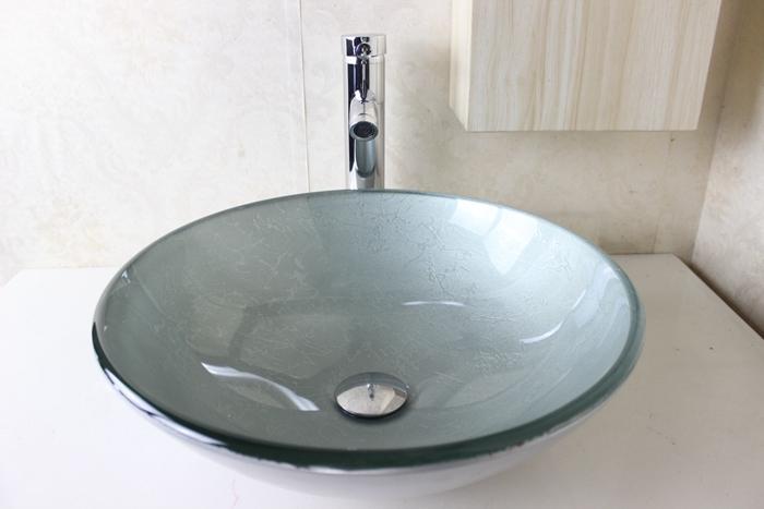 2019 Pastoral Style Vanity Modern Bathroom Glass Basin Hot