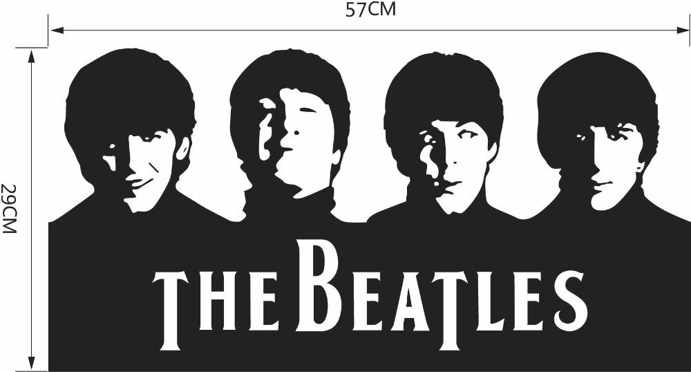 Black And White Wallpaper Decor Ome Decor Wall Sticker The Beatles Band Abbey Road Wall
