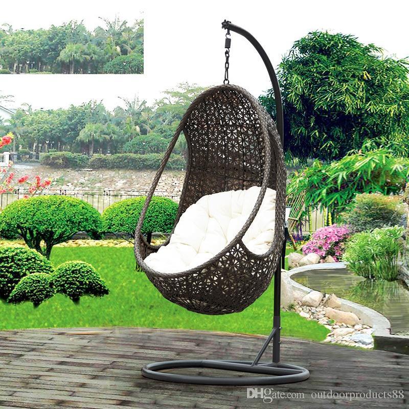 2018 Rattan Basket Rocking Chair,Garden Rattan\/Wicker Swing Chair - hangesessel korb rattan