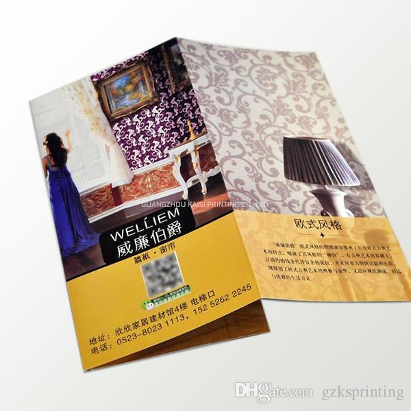 A4 Tri-fold flyers 128g/157g art paper Custom leaflets/flyers printing in  full color Fliers/flyers for Promotional of prod