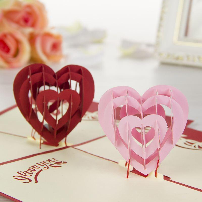 Nice New 3d Handmade Card Greeting Cards I Love You Red Heart Design - online greeting card designer