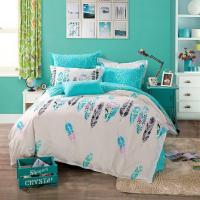 100% Cotton Feather Bedding Set Bed Set Linen Cotton Queen ...