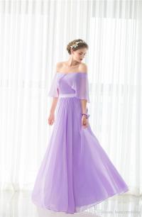 Elegant Light Purple Bridesmaid Dresses Long Under 50 Off ...