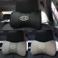 2 X Genuine Leather Headrest Neck Pillow Car Auto Seat ...