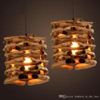 Native Wood Handmade Berry Light Wooden Chandelier Hanging ...