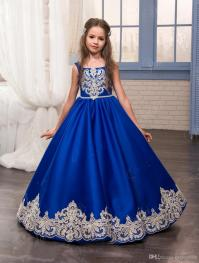 Kids Christmas Dresses For Party 2017 Royal Blue Girl ...
