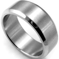 8mm Plain Stainless Steel Ring Band Size 7 15 Silver ...