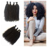 100 Human Hair Braiding Bulk Kinky Curly No Weft Mongolian ...