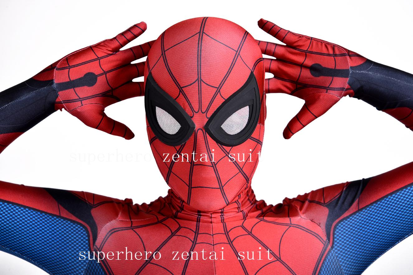 Tempting Homecoming Spider Man Costume Cosplay Spiderman Homecoming Spandex Suitnewest Spidey Bodysuit Adult Made Med Party Costumesgroup Homecoming Spider Man Costume Cosplay Spiderman Homecoming baby Spiderman Costume For Kids