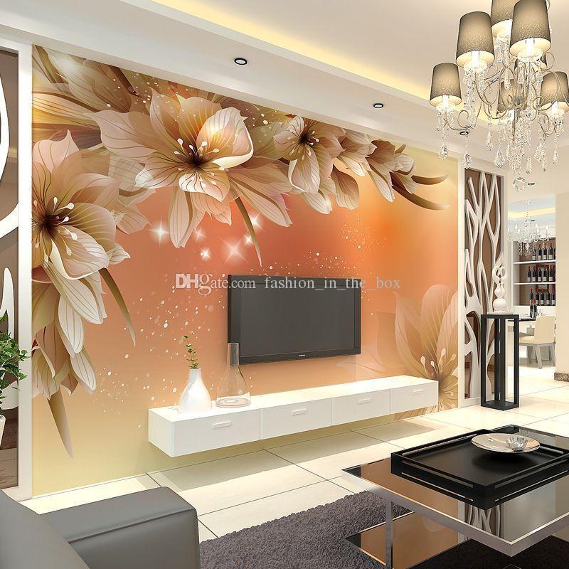 3d Mural Wallpaper India Custom Luxury Wallpaper Elegant Flowers Photo Wallpaper