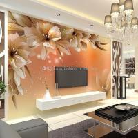 Custom Luxury Wallpaper Elegant Flowers Photo Wallpaper ...