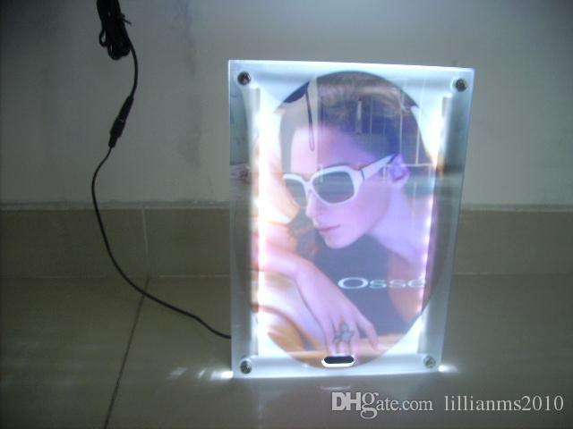 2018 Led Crystal Frame Magic Mirror Lighted Up Boxes