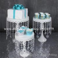Crystal Chandelier Iron Cake Cupcake Stand Plate Cake ...