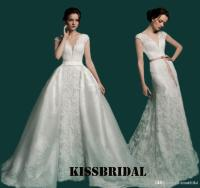 Sexy Two In One Detachable Train Mermaid Wedding Dresses