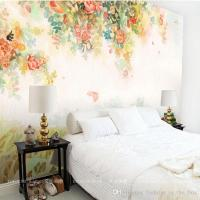 Elegant Photo Wallpaper Rose Flower Wall Murals 3d Custom ...