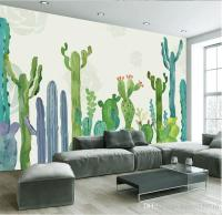 Large 3d Cacti Wall Murals Photo Wallpaper For Living Room ...