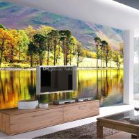 Forest River Photo Wallpaper 3D Trees Wallpaper Custom ...