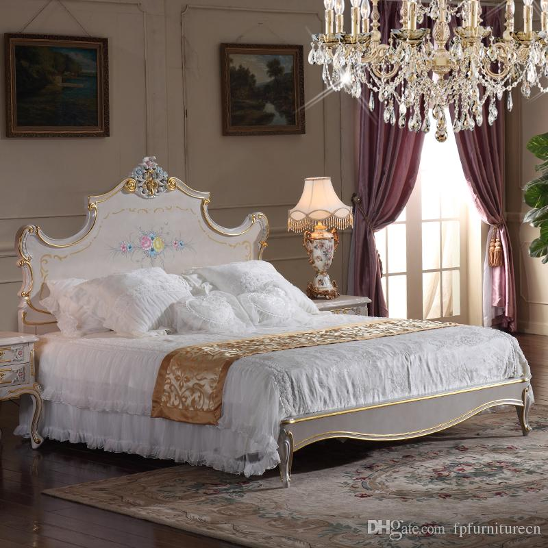 2018 High End Classic Furniture Bedroom Baroque Style