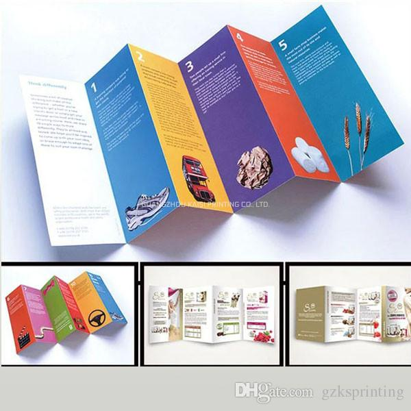 Custom flyers printing service in high quality Multi-fold flyers full color  various sizes Leaflets for product promotion 128g/157g/105g