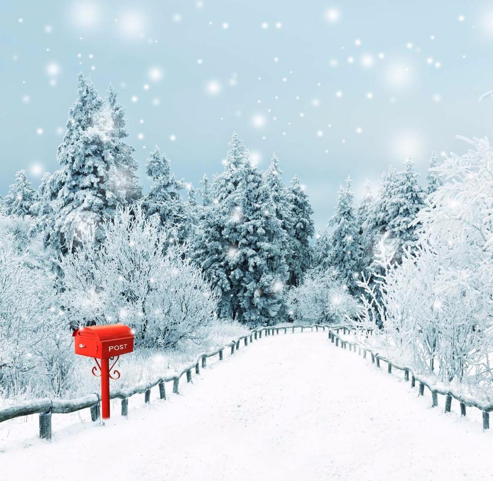 Christmas Falling Snow Wallpaper Note 3 2019 Snow Covered Country Road Photography Backdrop Vinyl