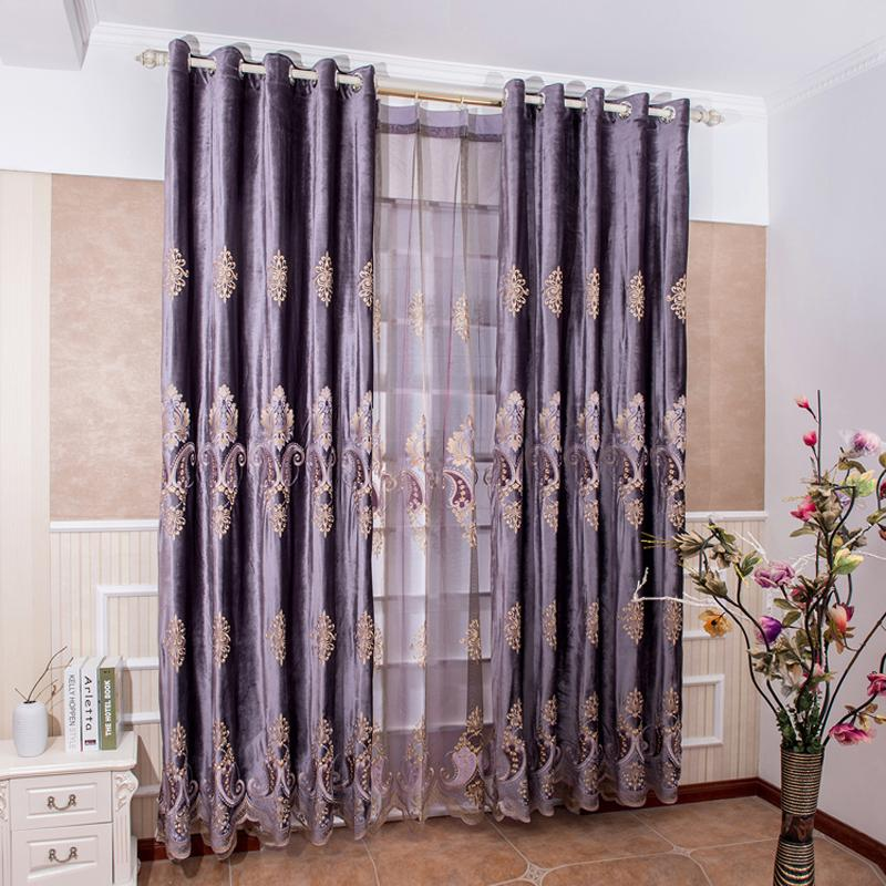 2017 Europe Luxury Curtains For Living Room Embroidered Voile - luxury curtains for living room