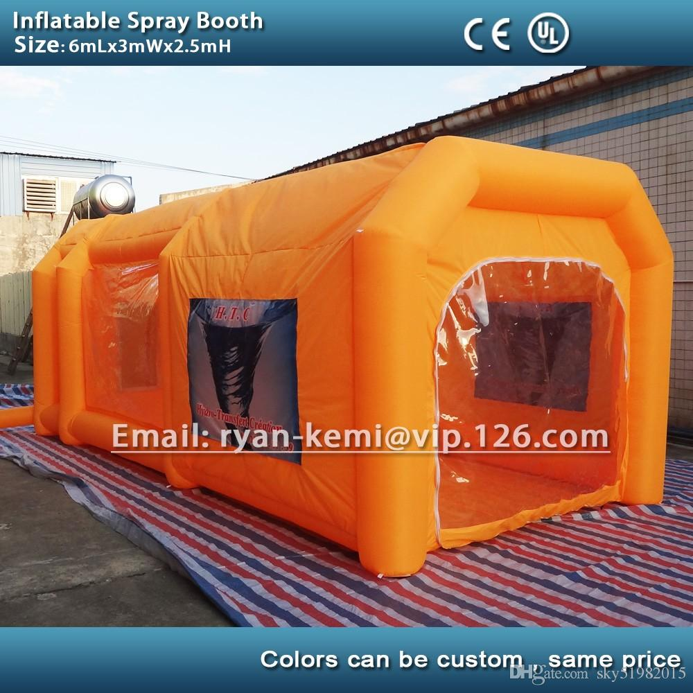 6m custom color inflatable spray booth inflatable car spray booth inflatable paint booth tent inflatable spray booth online with 1658 3 piece on